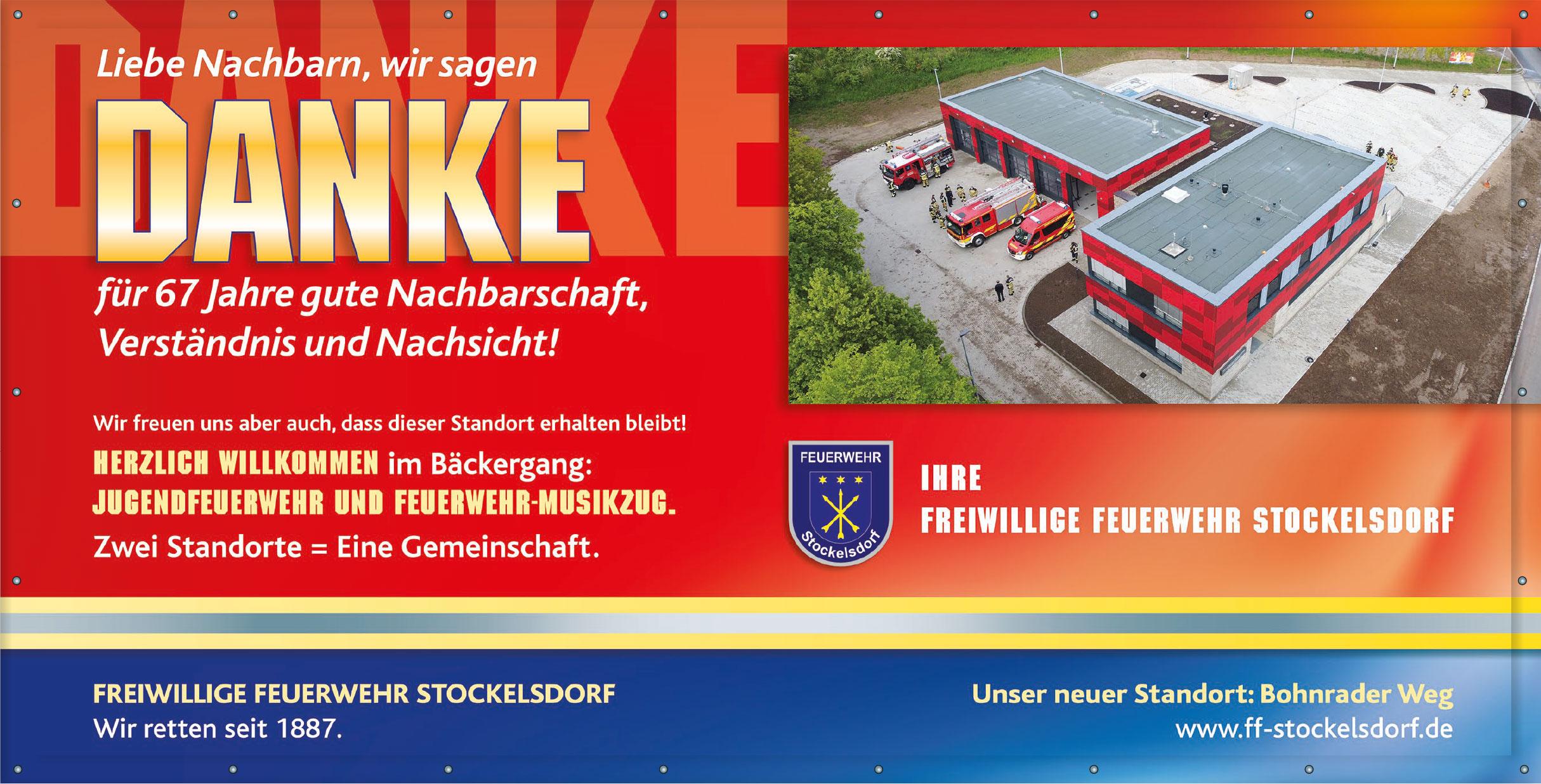 FF Stockelsdorf sagt Danke